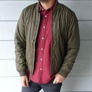 Hollister Green Fleece-Lined Bomber Jacket